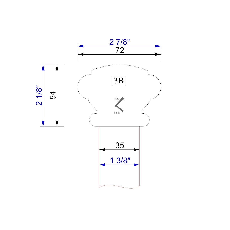 Handrail profile outline 3B 35