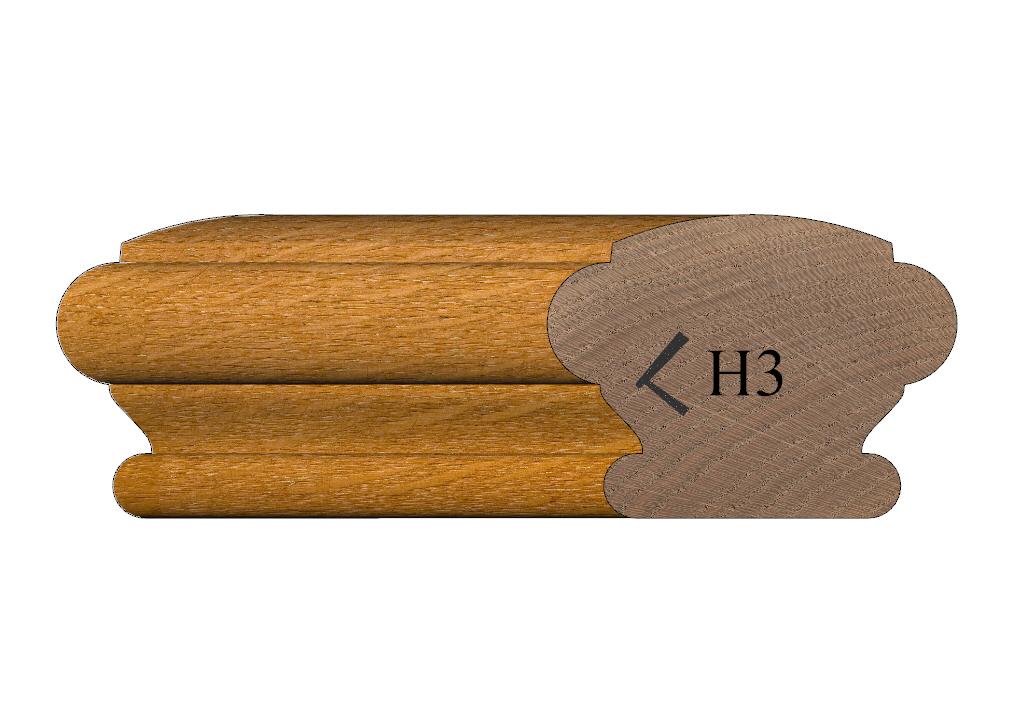 handrail profile 3 oak