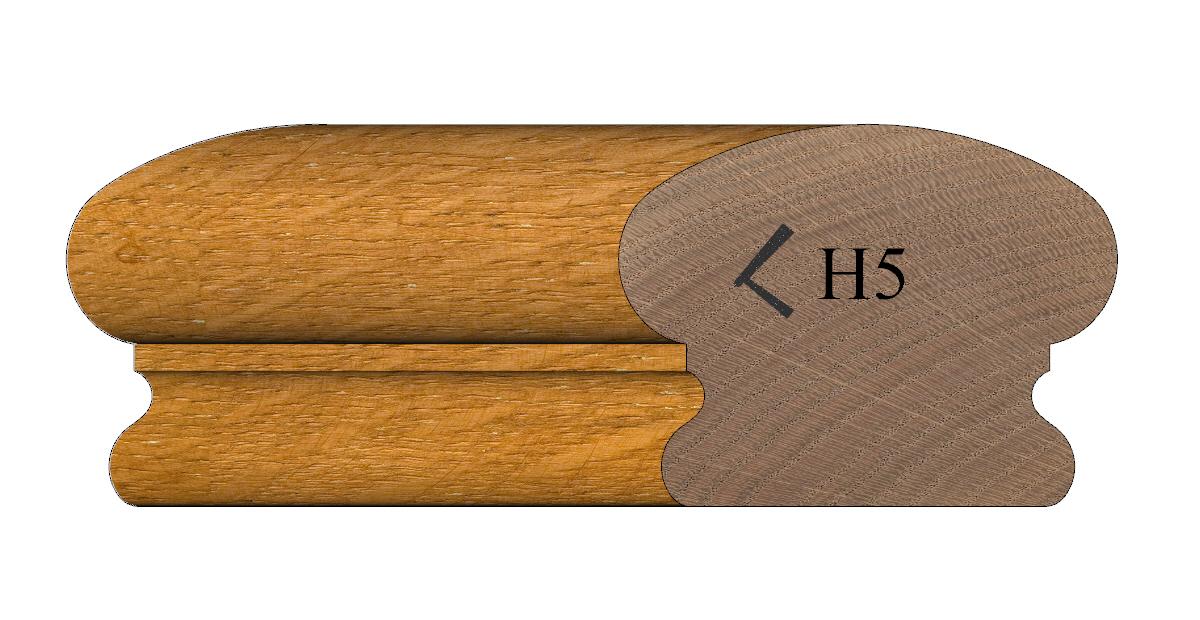 Handrail profile 5 Oak