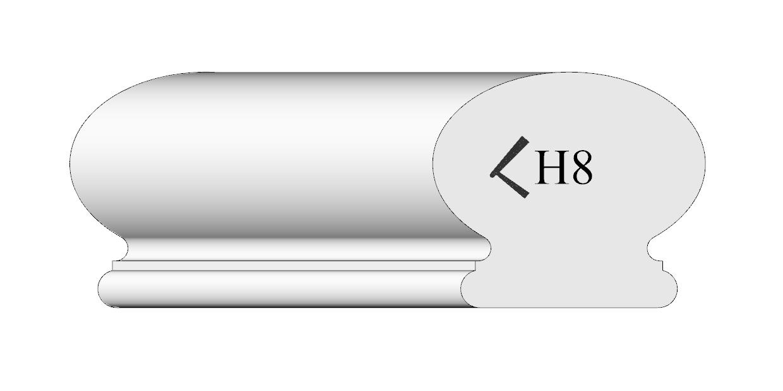 Handrail profile 8 Shaded.