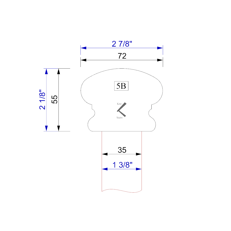 Handrail profile outline 5B 35