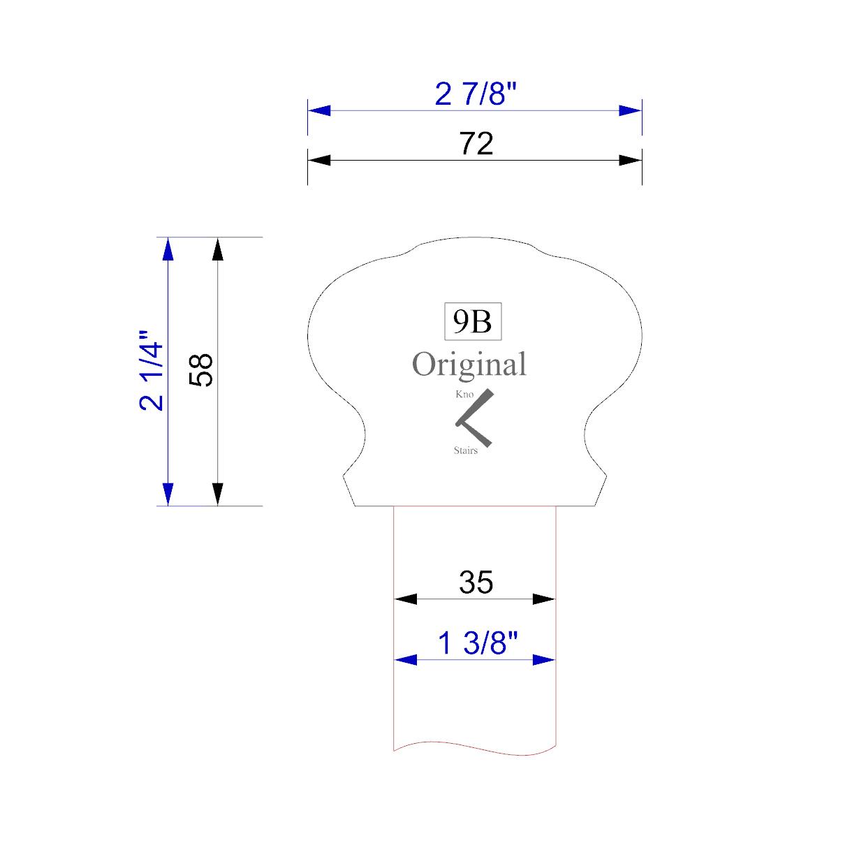 Handrail profile outline 9B 35