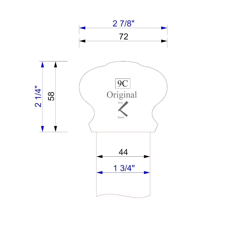 Handrail profile outline 9C 44