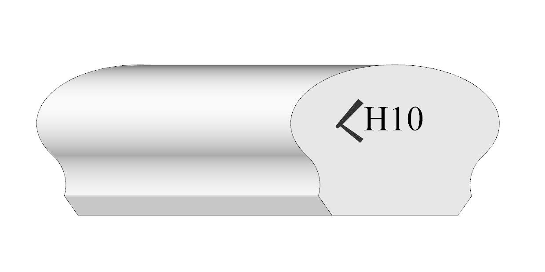 Handrail profile 10 plate style