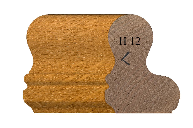 Handrail profile 12 Oak