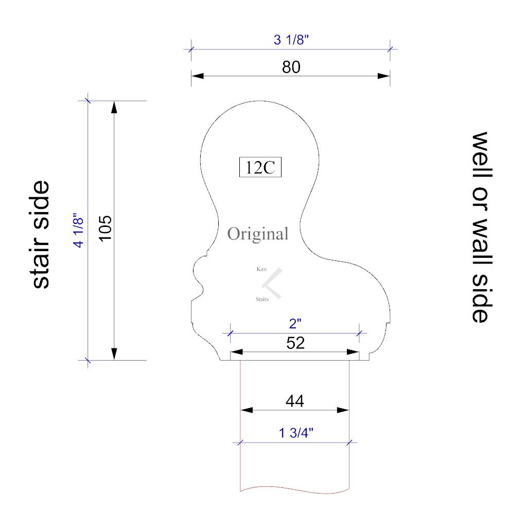 Handrail profile 12 outline