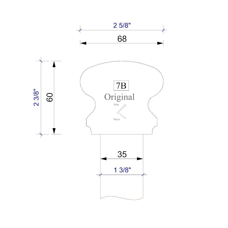 handrail profile 7B 35