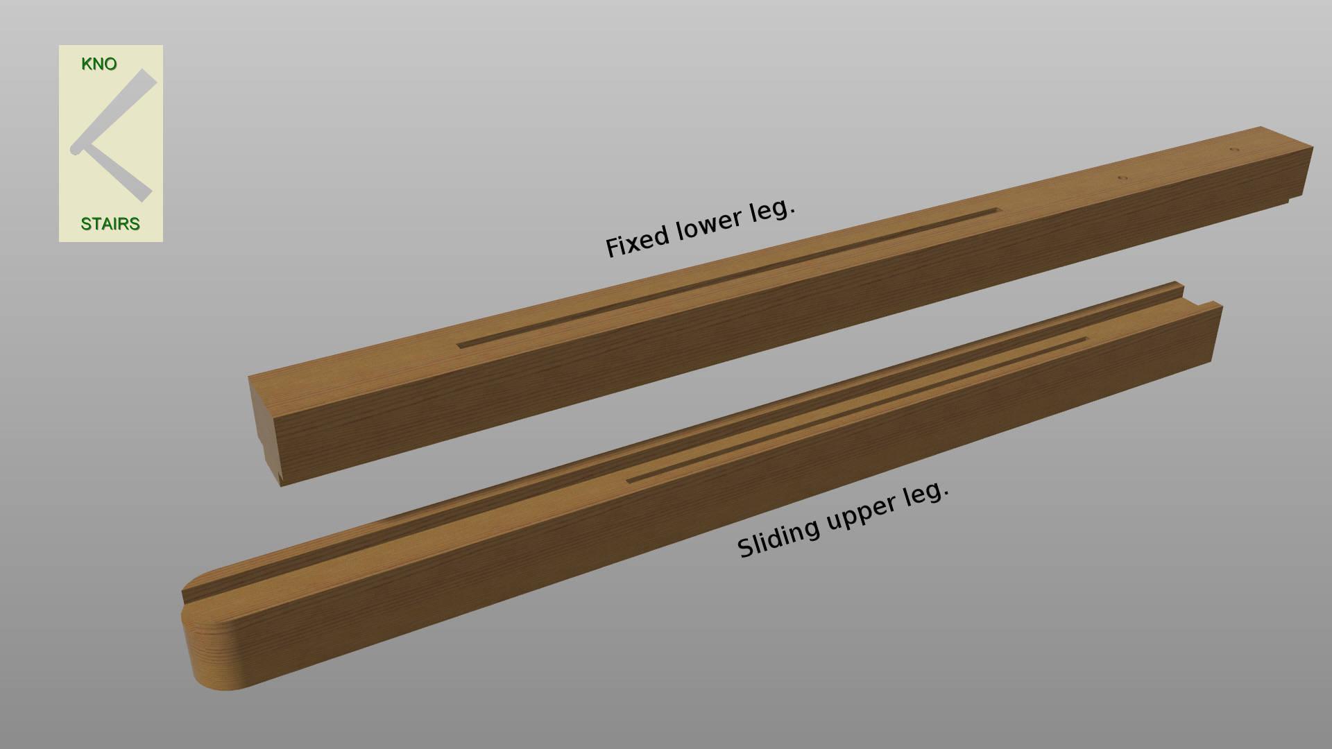 Handrail stand -  legs.